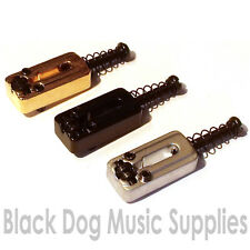 Set of six quality guitar roller saddles in chrome black or gold