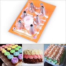 6X Icing Piping Nozzle Sugarcraft Düsen Kuchen Dekoration Pastry Set Cake Tool