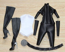 1/6 Scale Catwoman Jumpsuit Clothing Sets for Hot Toys Phicen Kumik Female Body