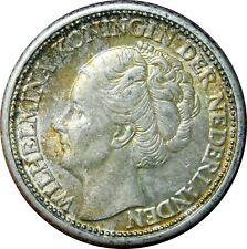 1944 Netherlands 25 Cents Silver Coin UNC Condition - b