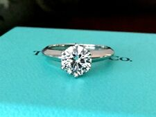 Tiffany & Co Platino Anillo de Compromiso Diamante .90 Ct G VS1 k Venta