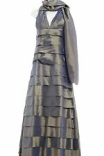 MAGIC NIGHTS Ballkleid grüngrau-graublau Elegant Damen Gr. DE 36 Kleid Dress