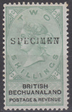 Bechuanaland 1888 Mint Mounted 2/- Green & Black SG16  SPECIMEN