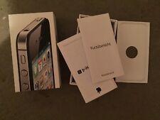 Apple iPhone 4S 16 GB Original Verpackung Box Schachtel inkl. Beilagen