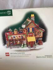 DEPT 56 NORTH POLE LEGO BUILDING CREATION STATION