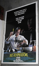 RE-ANIMATOR original 1985 one sheet movie poster JEFFREY COMBS/BRUCE ABBOTT