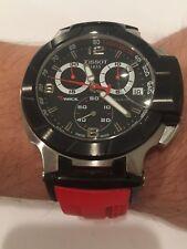 Tissot T-Race Chronograph Red Rubber Men's Watch T0484172705701