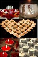Tea Light 8 Hr Burn Time Scented Apple Cinnamon Vanilla Coconut Candles + Holder