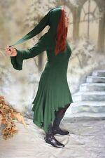 GOTICO MEDIOEVO STREGA vestito a Punta cappuccio Sweatkleid Felpa con verde 40