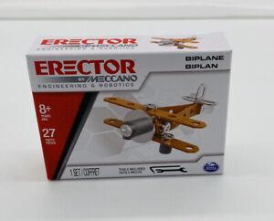 Erector By Meccano Engineering & Robotics Construction Set ~ Biplane ~ New