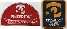 PINKERTON SECURITY SERVICES PATCHES UNUSED
