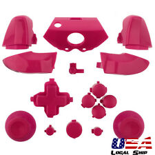 Solid Pink Custom Full Buttons Set Mods Dpad ABXY Guide for Xbox One Controller