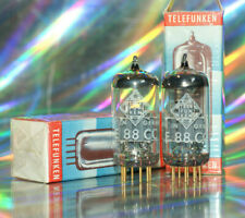 2x E88CC Telefunken Röhre Tube <> Röhrenverstärker HiFi Audio Amplifier Paar