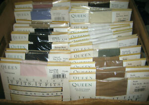 Vintage Berkshire QUEEN Size 5x-6x SANDALFOOT PANTYHOSE Style No. 4416 Colors