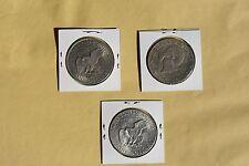 U.S.A.  Lot of 3 coins  Dollar Eisenhower  1971 D, 1977 D ,1976 Bicen