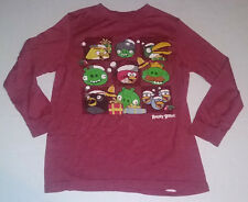 Angry Birds Old Navy Collectabilitees Boys Red Long Sleeve Shirt Size Large L