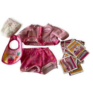 Hasbro Baby Alive clothes bib diaper food lot baby powder 2006 Soft Face