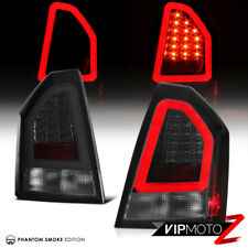 For 05-07 Chrysler 300 [SMOKED LENS] 3D Neon Tube LED Tail Light Brake Lamp Pair