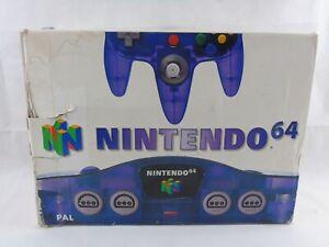 Nintendo 64 N64 Console Purple Clear Grape Boxed PAL