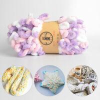 100g Fingering Loop Yarn Puffi Circle Cotton Braided Rope Yarn Knitting Crochet