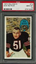 1970 KELLOGG'S #10 DICK BUTKUS PSA 10 GEM MINT CHICAGO BEARS HOF FOOTBALL