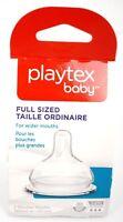Playtex Fullsized Fast Flow Nipples 3-6 M+ for NURSER or VENTAIRE 2pk New