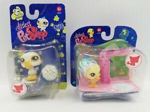 Littlest Pet Shop #797 Messiest Pelican & Fanciest Duck Chick #917, HTF Figures
