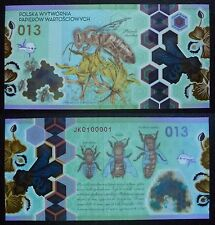 HONEY BEE Poland 2013 polish POLYMER Test Note Serie JK 0100001 Extremely Rare