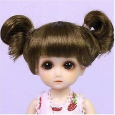 HD0011B Light Brown Mohair Wig with Braids for Ruby Red Galleria Doll Ten Ping