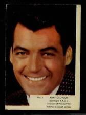 (Gg252-348) Kane, Film Stars, Grey Plain Back, #3 Rory Calhoun 1958 VG