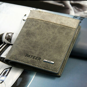 Fashion classic Men's Wallet Pockets Card Clutch Cente Bifold Purse