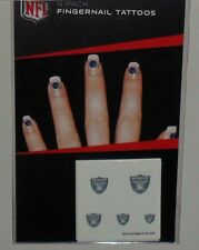 NFL OAKLAND RAIDERS 20  TEMPORARY FINGERNAIL TATTOOS FAST FREE SHIPPING