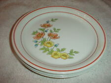 CORELLE ROSE GARDEN DINNER PLATES 10.25 INCH X 4 FREE USA SHIPPING