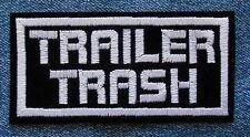TRAILER TRASH MOTORCYCLE BIKER PATCH by DIXIEFARMER