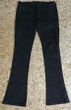 G by Guess Flare Low Rise Black Jeans Size 28 ( 32 x 33 ) Embellished Snap Legs