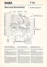 SABA - T 121 - TG 464 automatic H - Service Schaltbild - B3532