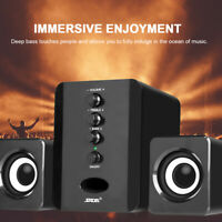 Mini Computer Speakers System USB2.1 Powered Stereo Subwoofer For Laptop PC S8X7