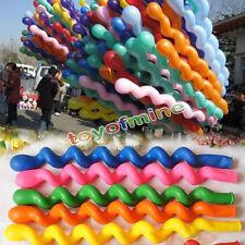 100 Piezas Roscado Espiral Forma Globos Látex Fiesta Vacaciones Decoración