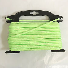 """2 Pack. Green  5/32"""" x 75ft Nylon Braided Rope Cord String"""