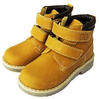 RRP - £40 BOYS KIDS INFANTS SUEDE CHELSEA BROGUE ANKLE BOOTS SHOES TAN Sz 4 - 7