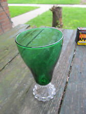 Free Shipping Vintage Forest Green Ice Tea Footed Boopie Berwick Burple Goblet