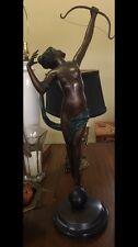 Huge Museum Quality Art Deco Pierre Le Faguays Bronze Figural NUDE