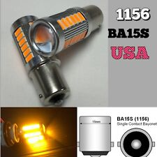 Rear Signal 1156 BA15S 33SMD 180° LED Projector Lens Amber Bulb K1 For AW K