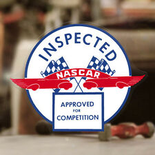 NASCAR Inspected Aufkleber Sticker Hot Rod NHRA Drag Racing Drag Race