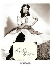 Ruth Roman Autograph Alfred Hitchcock Strangers on a Train The Shanghai Story