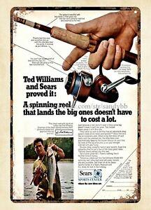 1970 TED WILLIAMS Boston Red Sox Baseball Sears Spinning Fishing Reel metal