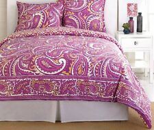 TRINA TURK 3 PC COMFORTER SET FULL/QUEEN PAISLEY PINK PURPLE NEW NWT
