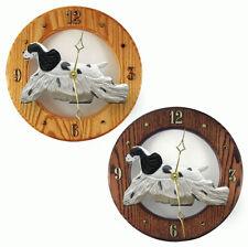 Cocker Spaniel Wood Wall Clock Plaque Blk Parti