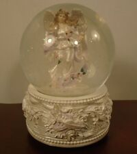 "Angel Musical Snow Globe Plays ""Angels We Have Heard On High"" SF Music Box Co."