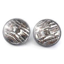 For 2007-2013 GMC Sierra Clear Front Bumper Fog Lights Driving Lamp w/Bulbs PAIR